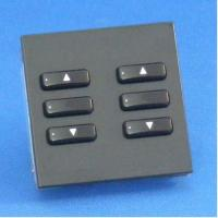 Rako wireless blinds euromod 6 button keypads - Black