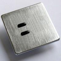 Rako wireless lighting RCM 2 button brushed steel keypad