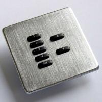 Rako wireless lighting RCM 7 button brushed steel keypad