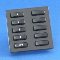 Rako wired lighting euromod 10 button keypads - Black