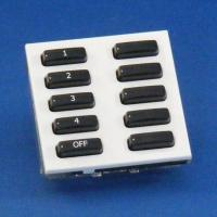 Rako wired lighting euromod 10 buttons keypads - White