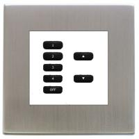 Rako wired lighting frame and insert keypad and morpheus frame