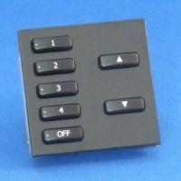 Rako Lighting WCM-070 - 7 Button Frame and Insert Keypad with Black Insert