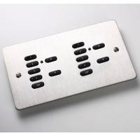 Rako Wireless Lighting RCP07-07 - Double Gang 7 plus 7 Button Keypad - Flat Metal Cover Plate