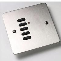 Rako Wireless Lighting RPP05-SS - 5 Button Brushed Stainless Steel Flat Metal Plate
