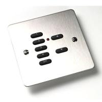 Rako Wireless Lighting RPP07-MSS - 7 Button Polished Stainless Steel Flat Metal Plate