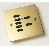 Rako Wireless Lighting RPP07-PB - 7 Button Polished Brass Flat Metal Plate