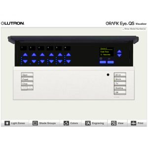 Click image to open Lutron GRAFIK Eye QS Visuliser
