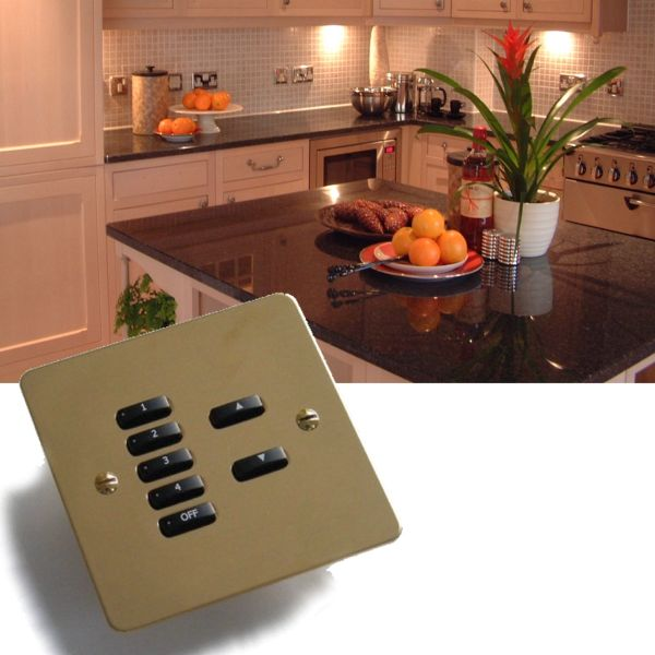 Rako lighting wireless rcm keypads - Flate plate fixings