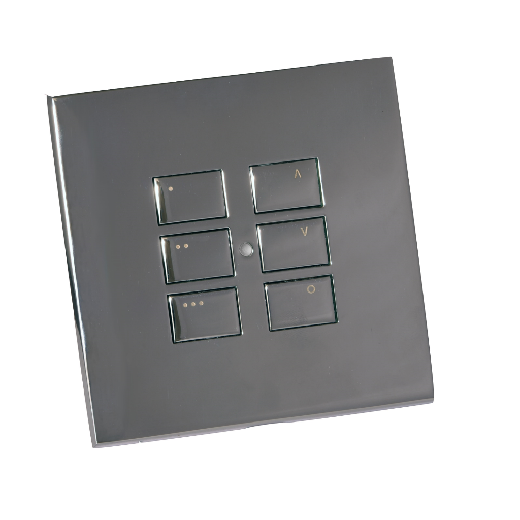 rako lighting controls eos-6 wall mounted keypads