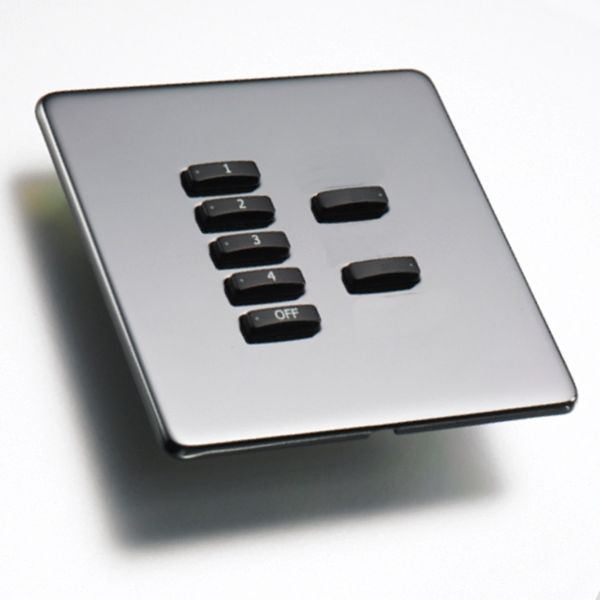 Rako Lighting Keypads - Black Nickel Hidden Fixing