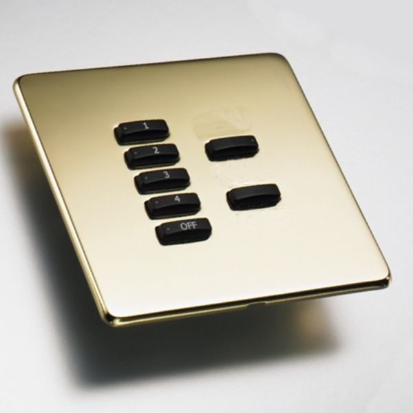 Rako Lighting Keypads - Polished Brass Hidden Fixing