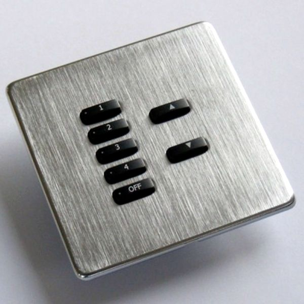 Rako Lighting Keypads - Brushed Stainless Steel Hidden Fixing