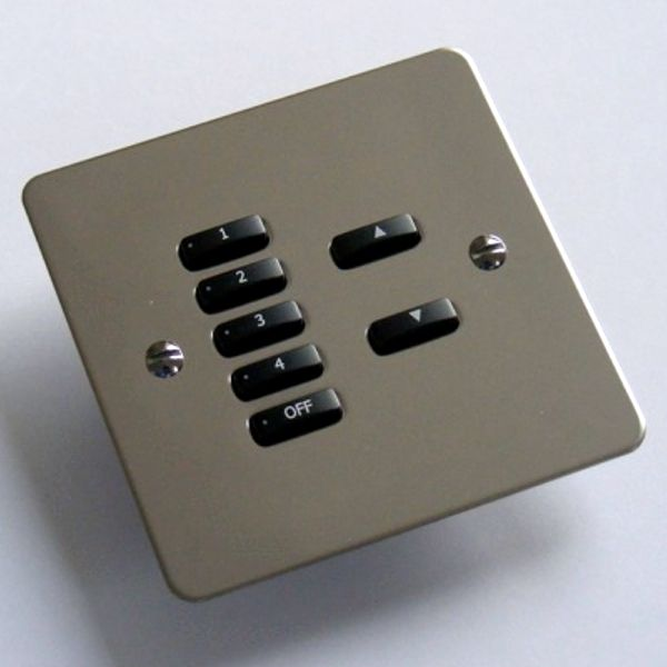 Rako Lighting Keypads - Polished Stainless Steel Flat Plate