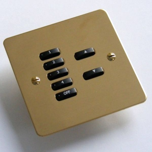 Rako Lighting Keypads - Polished Brass Metal Flat Plate