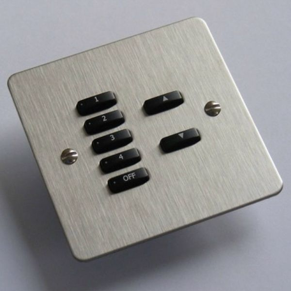 Rako Lighting Keypads - Brushed Stainless Steel Flat Plate