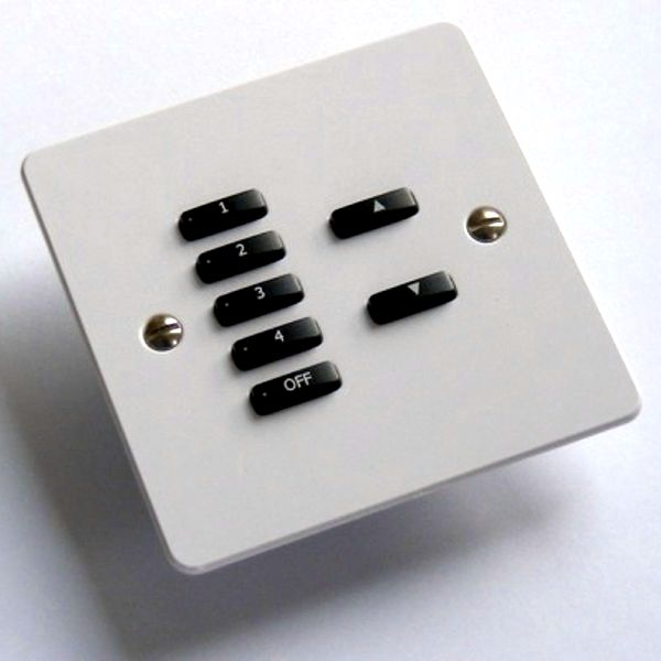 Rako Lighting Keypads - White Flat Plate